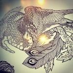 鳳凰もこれくらいで完了かな。#phoenix #japanesephoenix #鳳凰 #dragon#tigeranddragon #龍 #龍虎#竜 #竜虎 #tiger #虎 #唐獅子 #karajishi #lion #japaneselion #和柄#japanesetraditional #和風 #japanesestyle #刺繍#embroidery #tattoo #刺青