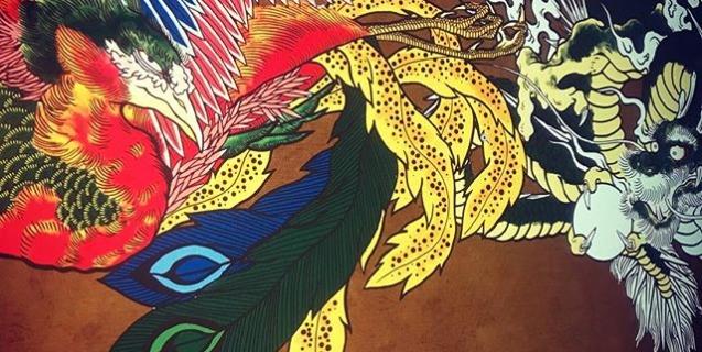なかなか進まない。#phoenix #japanesephoenix #鳳凰 #dragon#tigeranddragon #龍 #龍虎#竜 #竜虎 #tiger #虎 #唐獅子 #karajishi #lion #japaneselion #和柄#japanesetraditional #和風 #japanesestyle #刺繍#embroidery #tattoo #刺青
