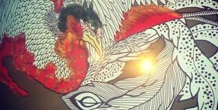 着色開始。試行錯誤の繰り返し。#trial and error#phoenix #japanesephoenix #鳳凰 #dragon#tigeranddragon #龍 #龍虎#竜 #竜虎 #tiger #虎 #唐獅子 #karajishi #lion #japaneselion #和柄#japanesetraditional #和風 #japanesestyle #刺繍#embroidery #tattoo #刺青