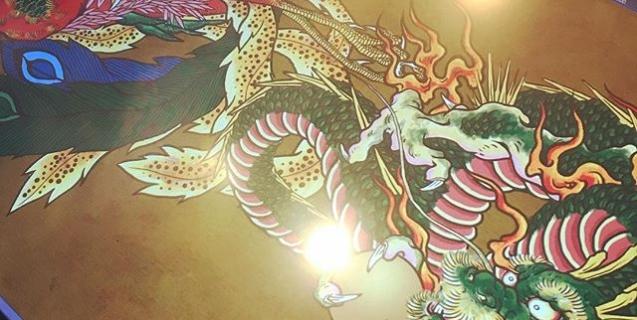 龍と鳳凰はほぼ完了。あとは虎と唐獅子。背景どうするのか悩みどころ。最近買った #龍が如く クリアしたったー!#phoenix #japanesephoenix #鳳凰 #dragon#tigeranddragon #龍 #龍虎#竜 #竜虎 #tiger #虎 #唐獅子 #karajishi #lion #japaneselion #和柄#japanesetraditional #和風 #japanesestyle #刺繍#embroidery #tattoo #刺青 #龍が如く極2