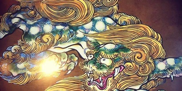 こんな感じかな。#phoenix #japanesephoenix #鳳凰 #dragon#tigeranddragon #龍 #龍虎#竜 #竜虎 #tiger #虎 #唐獅子 #karajishi #lion #japaneselion #和柄#japanesetraditional #和風 #japanesestyle #刺繍#embroidery #tattoo #刺青