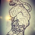 3つ目。#tiger  #虎  #japaneselion  #和柄#japanesetraditional  #和風  #japanesestyle  #刺繍#embroidery  #tattoo #刺青 #パス #パス化 #vector  #vectorart
