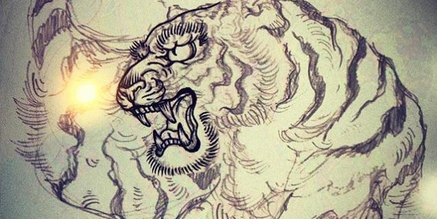 5つ目。#tiger  #虎  #japaneselion  #和柄#japanesetraditional  #和風  #japanesestyle  #刺繍#embroidery  #tattoo #刺青 #パス #パス化 #vector  #vectorart