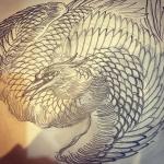#phoenix #japanesephoenix #鳳凰 #和柄#japanesetraditional #和風 #japanesestyle #刺繍 #embroidery #tattoo #刺青 #パス #パス化 #vector  #vectorart