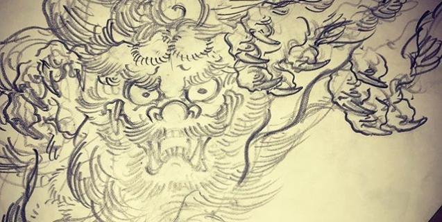 今年は戌年。#唐獅子 #karajishi #lion #japaneselion#japanesetraditional #和風 #japanesestyle #刺繍 #embroidery #tattoo #刺青 #パス #パス化 #vector  #vectorart