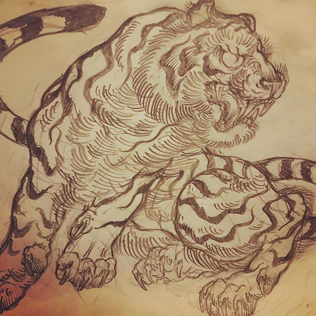 #tiger #虎 #和柄 #japanesetraditional #和風  #japanesestyle #刺繍 #embroidery #tattoo #刺青 #パス #パス化 #vector  #vectorart