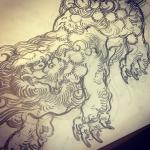 #唐獅子 #lion #japaneselion #和柄#japanesetraditional #和風 #japanesestyle #刺繍 #embroidery #tattoo #刺青 #パス #パス化 #vector  #vectorart