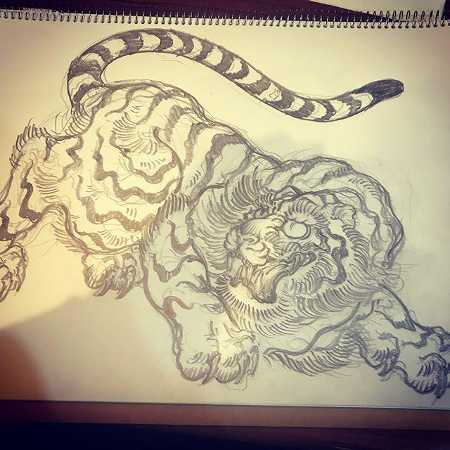 いい感じ!#tiger #虎 #和柄 #japanesetraditional #和風  #japanesestyle #刺繍 #embroidery #tattoo #刺青 #パス #パス化 #vector  #vectorart