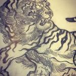 そろそろラフが溜まってきたのでパス化しないといけない。#tiger #虎 #japaneselion #dragon #tigeranddragon #龍 #龍虎#竜 #竜虎 #和柄#japanesetraditional #和風 #japanesestyle #刺繍 #embroidery #tattoo #刺青 #パス #パス化 #vector  #vectorart #鉛筆画 #鉛筆 #ラフ