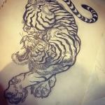 描きかけ其ノ二。#tiger #虎 #japaneselion #dragon #tigeranddragon #龍 #龍虎#竜 #竜虎 #和柄#japanesetraditional #和風 #japanesestyle #刺繍 #embroidery #tattoo #刺青 #パス #パス化 #vector  #vectorart #鉛筆画 #鉛筆 #ラフ