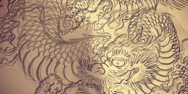 #dragon #tigeranddragon #龍 #龍虎#竜 #竜虎 #和柄#japanesetraditional #和風 #japanesestyle #刺繍 #embroidery #tattoo #刺青 #パス #パス化 #vector  #vectorart #鉛筆画 #鉛筆 #ラフ