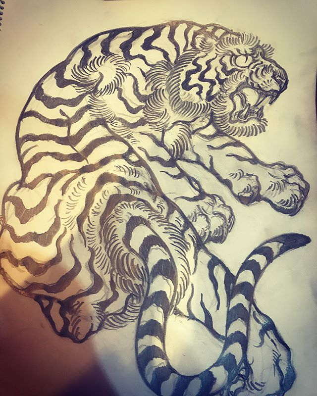 #tiger #虎 #japaneselion #dragon #tigeranddragon #龍 #龍虎#竜 #竜虎 #和柄#japanesetraditional #和風 #japanesestyle #刺繍 #embroidery #tattoo #刺青 #パス #パス化 #vector  #vectorart #鉛筆画 #鉛筆 #ラフ