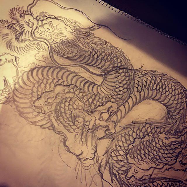 #illustrator #イラストレーター #tiger #虎 #japaneselion #dragon #tigeranddragon #龍 #龍虎#竜 #竜虎 #和柄#japanesetraditional #和風 #japanesestyle #刺繍 #embroidery #tattoo #刺青 #パス #パス化 #vector  #vectorart #鉛筆画 #鉛筆 #ラフ