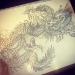 #バイプレイヤーズ を観ながら。#illustrator #イラストレーター #tiger #虎 #japaneselion #dragon #tigeranddragon #龍 #龍虎#竜 #竜虎 #和柄#japanesetraditional #和風 #japanesestyle #刺繍 #embroidery #tattoo #刺青 #パス #パス化 #vector  #vectorart #鉛筆画 #鉛筆 #ラフ