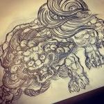 #唐獅子 #lion #japaneselion#illustrator #イラストレーター #和柄 #japanesetraditional #和風 #japanesestyle #刺繍 #embroidery #tattoo #刺青 #パス #パス化 #vector  #vectorart #鉛筆画 #鉛筆 #ラフ